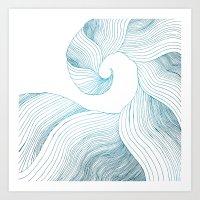 Tidal Wave (Teal Edition) Art Print