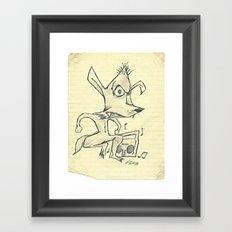Skanking Wolf Framed Art Print