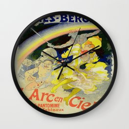 Vintage poster - The Rainbow Wall Clock