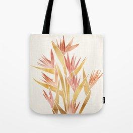 Deco Flowers ~ Metallic Birds of Paradise Tote Bag