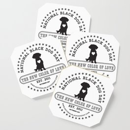 Black Dog Day Official Logo Coaster