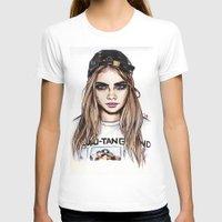 cara T-shirts featuring Cara Mia by vooce & kat