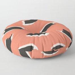 Animal Stripes in Terracotta Floor Pillow