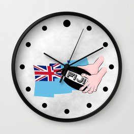 Fiji Rugby Flag Wall Clock