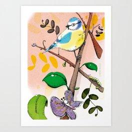 Mésange bleue Art Print