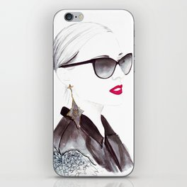 Watercolour Fashion Illustration Titled In Dior Zeli's iPhone Skin