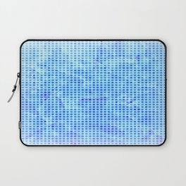 Pale Blue Dots Pattern Laptop Sleeve