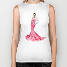Sabrina / Hepburn Fuschia Pink Red | Fashion Gown Dress Biker Tank