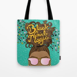 Black Girl Magic Teal Tote Bag
