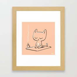 Max the Cat Chills Out Framed Art Print