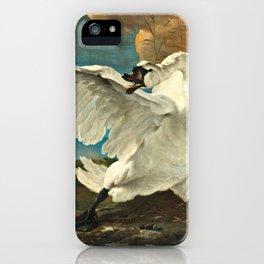Jan Asselijn - The Threatened Swan iPhone Case