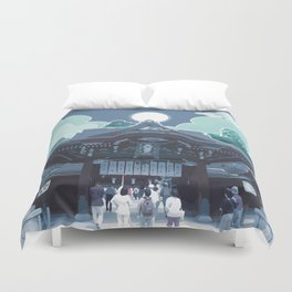 Night in Japan Duvet Cover