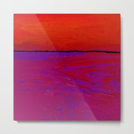 Square Abstract No. 8C by Kathy Morton Stanion Metal Print