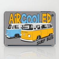 vw bus iPad Cases featuring VW Camper Van Surf Bus by VelocityGallery
