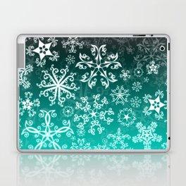 Symbols in Snowflakes on Winter Green Laptop & iPad Skin