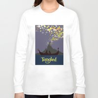 tangled Long Sleeve T-shirts featuring Tangled by TheWonderlander