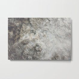 Pockets of Salt on the Rocks by the Sea Metal Print