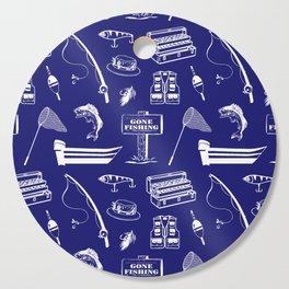 Gone Fishing // Midnight Blue Cutting Board