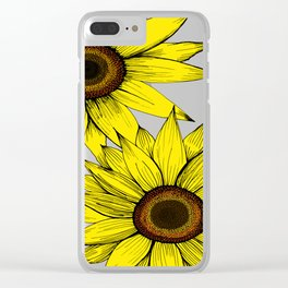 girasol Clear iPhone Case