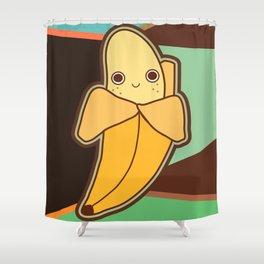 Happy Banana Shower Curtain