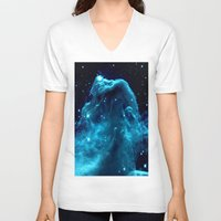 nebula V-neck T-shirts featuring NeBula by Galaxy Dreams