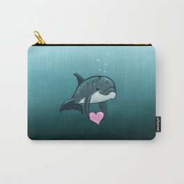 """""""Love Ya"""" by Amber Marine ~ Toon Baby Dolphin Art, (Copyright 2014) Carry-All Pouch"""