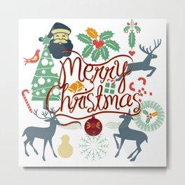 Merry Christmas Metal Print