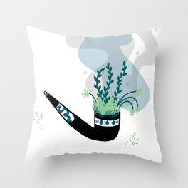 Garden pipe Throw Pillow