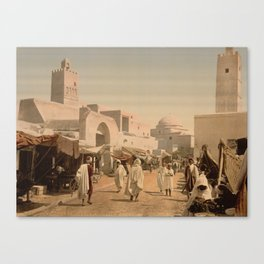 Tunisian Bazaar Canvas Print