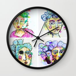 The Four Sisters Wall Clock