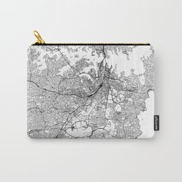 Sydney White Map Carry-All Pouch