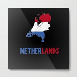 Netherlands Metal Print