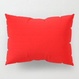 ff0000 Bright Red Pillow Sham