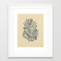 leaf Framed Art Prints featuring Turning Over A New Leaf by Monica Gifford
