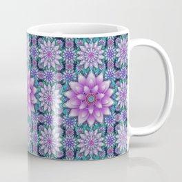 Embroidered purple & green Coffee Mug