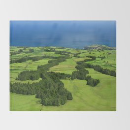 Typical Azores landscape Throw Blanket