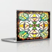 stained glass Laptop & iPad Skins featuring Stained Glass by Misrella