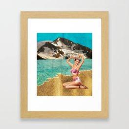 Lets go to beach beach Framed Art Print