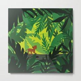 Lion King - Simba Pattern Metal Print