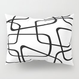 Mid Century Black And White Pattern Pillow Sham