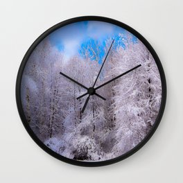 All Dressed In White Wall Clock