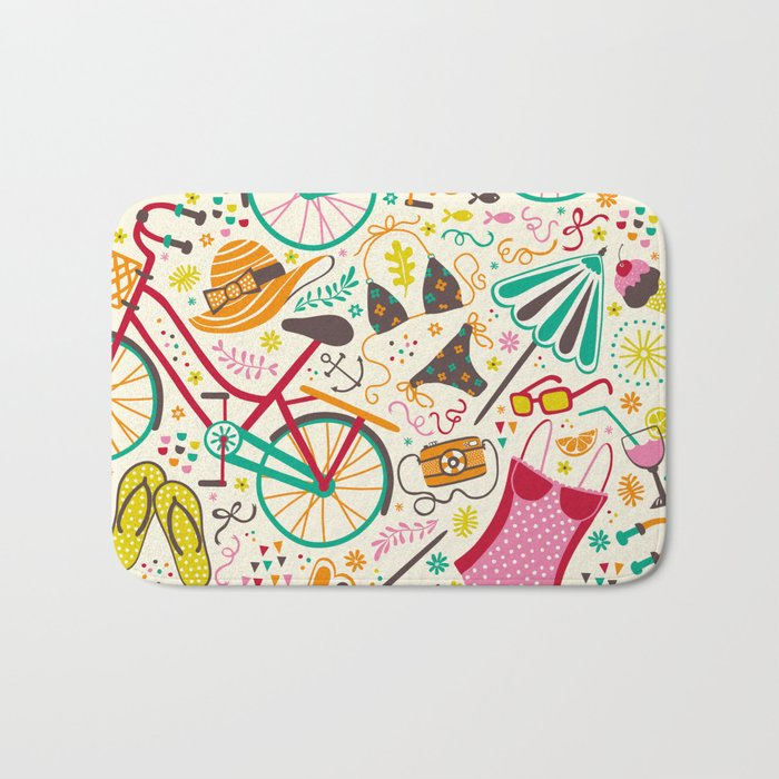 Seaside Cycle Bath Mat