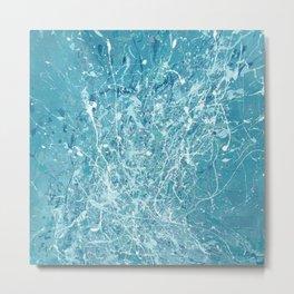 Splashy waves 03 - abstract art painting Jackson pollock style art Metal Print