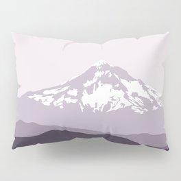 Snow Capped Mountain Landscape - Purple Pillow Sham