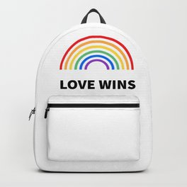 LOVE WINS LGBTQ pride Backpack