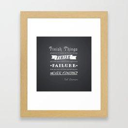 Finish Things - Neil Gaiman Framed Art Print