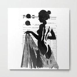 Emma pure black and white Metal Print