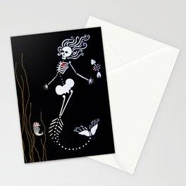 Mermaid Skeleton Stationery Cards