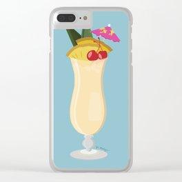 Tropical Piña Colada Clear iPhone Case