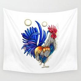 Gallo de las dos lunas Wall Tapestry